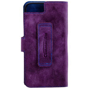 COMMANDER BOOK CASE ELITE für Apple iPhone 7 / iPhone 8 - Purple/Blue