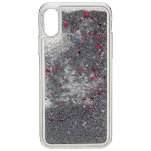 URBAN STYLE Back Cover GLAMOUR für Apple iPhone X / XS - Silver