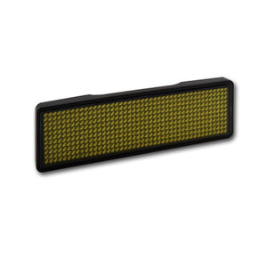 Sertronics LED Name Tag 11x44 Pixel USB - Rahmen: schwarz - LED: orange