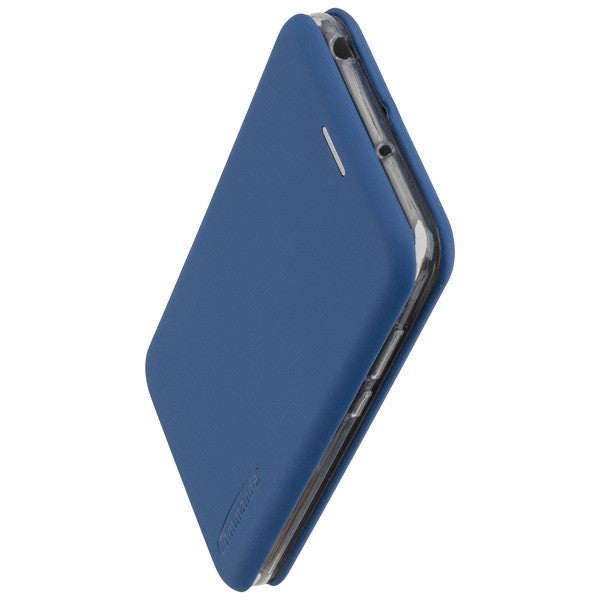 COMMANDER Book Case CURVE für Huawei Y6 2019 - Soft Touch - Maritim Blue