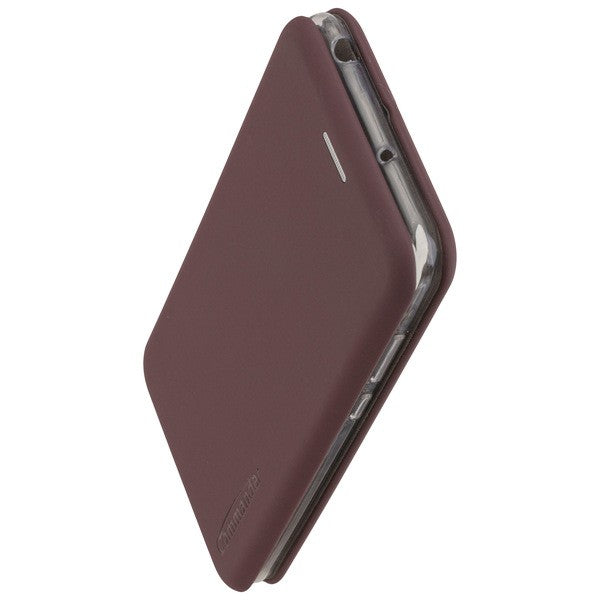 COMMANDER Book Case CURVE für Huawei Y6 2019 - Soft Touch - Bordeaux