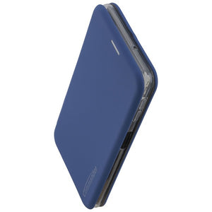 COMMANDER Book Case CURVE für Samsung Galaxy A7 (2018) - Soft Touch - Maritim Blue