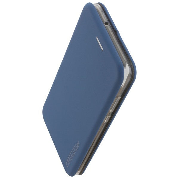COMMANDER Book Case CURVE für Honor 8X - Soft Touch - Maritim Blue