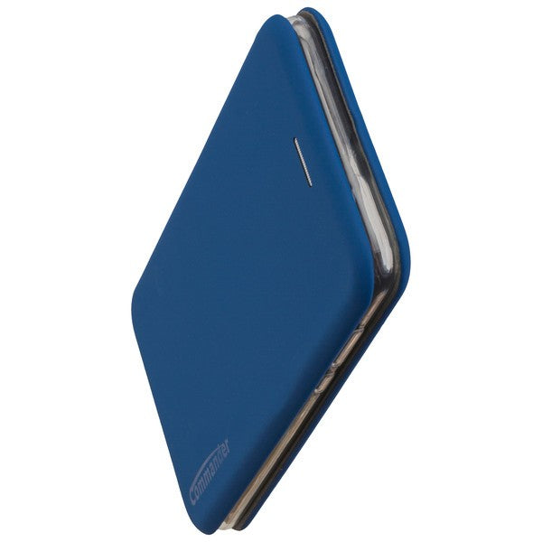 COMMANDER Book Case CURVE für Huawei Y7 2018 - Soft Touch - Maritim Blue