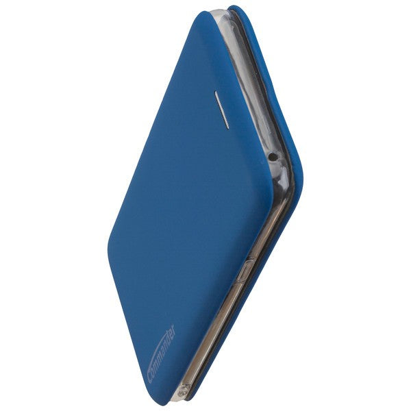 COMMANDER Book Case CURVE für Samsung Galaxy S9 - Soft Touch - Maritim Blue