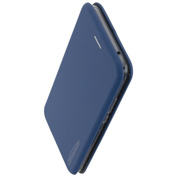 COMMANDER Book Case CURVE für Huawei Mate 20 Lite - Soft Touch - Maritim Blue