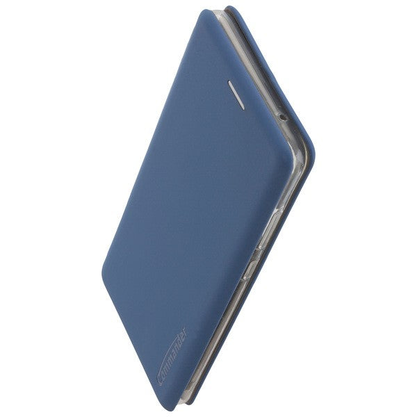 COMMANDER Book Case CURVE für Samsung Galaxy A9 (2018) - Soft Touch - Maritim Blue