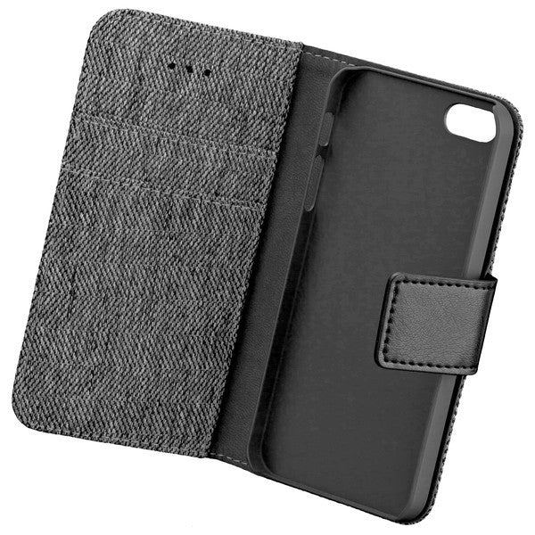 COMMANDER BOOK CASE DRESS GREY für Apple iPhone 5 / 5S / SE