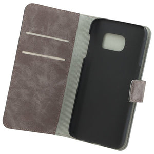 COMMANDER Book & Cover für Samsung Galaxy S7 - Nubuk Gray