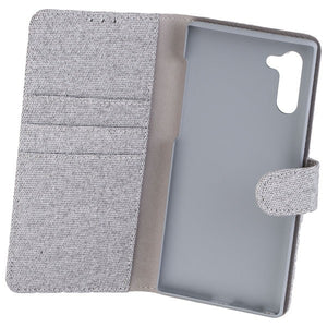COMMANDER Book Case ELITE für Samsung Galaxy Note 10 - Suit Elegant Gray