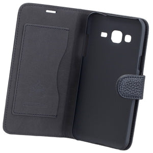 COMMANDER BOOK CASE ELITE für Samsung Galaxy J3 (2016) - Black