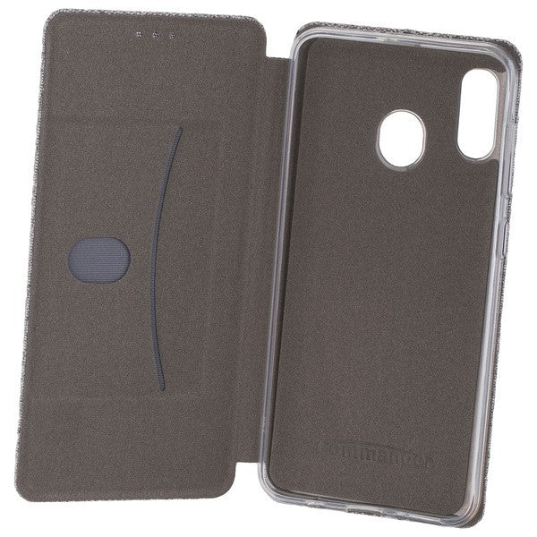 COMMANDER Book Case CURVE für Samsung Galaxy A30 - Suit Elegant Gray