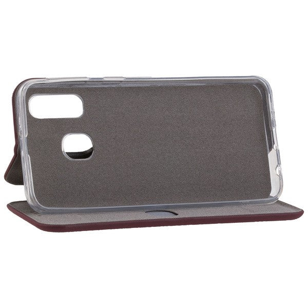 COMMANDER Book Case CURVE für Samsung Galaxy A40 - Soft Touch - Bordeaux
