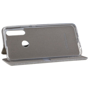 COMMANDER Book Case CURVE für Huawei P Smart Z - Suit Elegant Gray