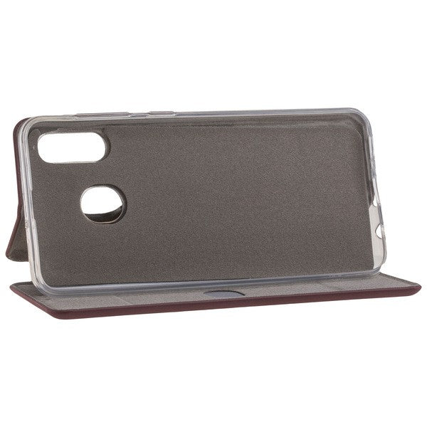 COMMANDER Book Case CURVE für Samsung Galaxy A30 - Soft Touch - Bordeaux
