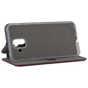 COMMANDER Book Case CURVE für Samsung Galaxy A6 - Soft Touch - Bordeaux