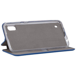 COMMANDER Book Case CURVE für Samsung Galaxy A10 - Soft Touch - Maritim Blue