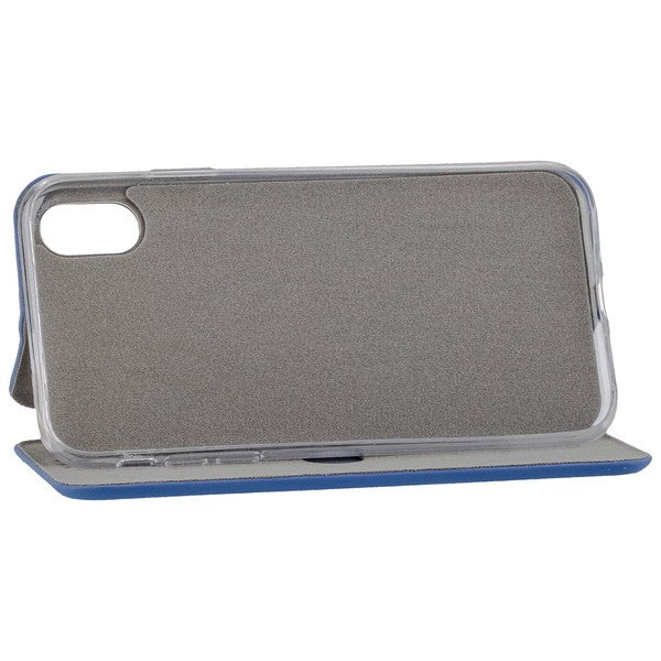COMMANDER Book Case CURVE für Apple iPhone XR - Soft Touch - Maritim Blue