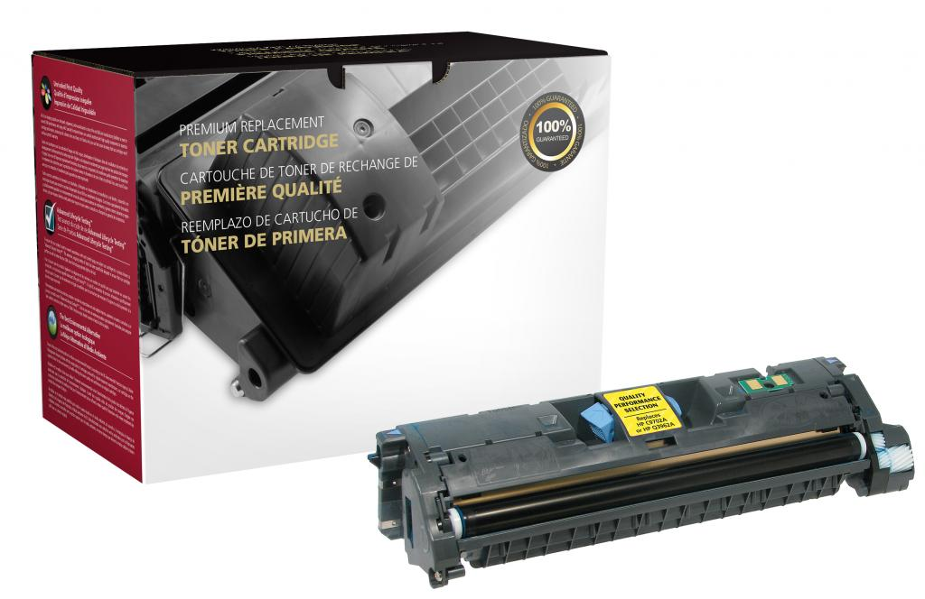 Yellow Toner Cartridge for HP C9702A/Q3962A (HP 121A/122A/123A)