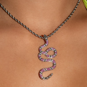 Iced Out Diamond Snake - Three tone