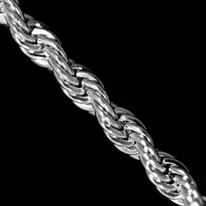 Load image into Gallery viewer, 3mm White Gold Rope Chain