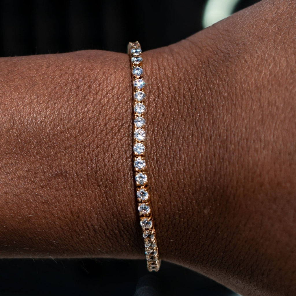3mm Yellow Gold Signature Tennis Bracelet