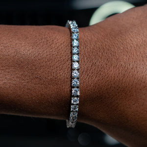 4mm White Gold Signature Tennis Bracelet