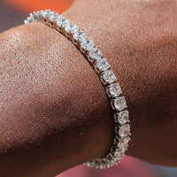 4mm White Gold Tennis Bracelet