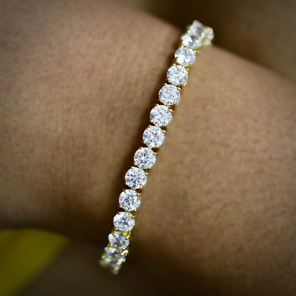 5mm Yellow Gold Tennis Bracelet