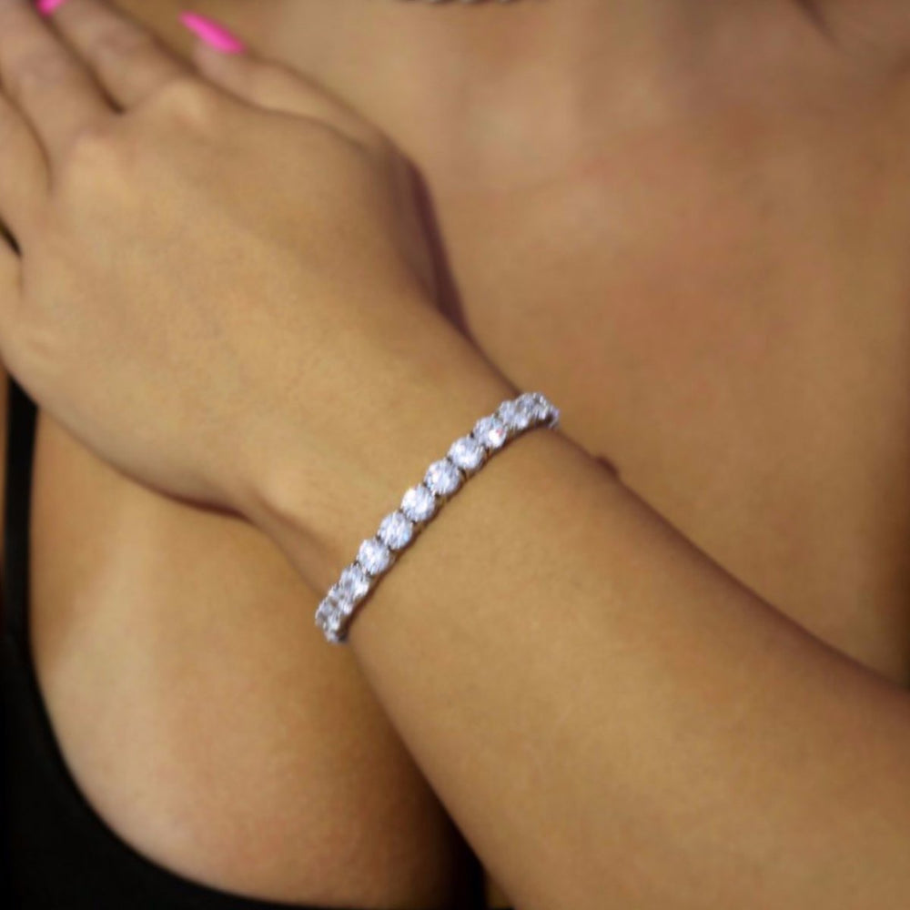 6mm White Gold Tennis Bracelet