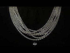 Load and play video in Gallery viewer, 3mm White Gold Rope Chain