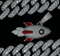 Iced Out Rocket - White Gold