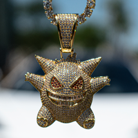 Iced Out Diamond Gengar - Yellow Gold
