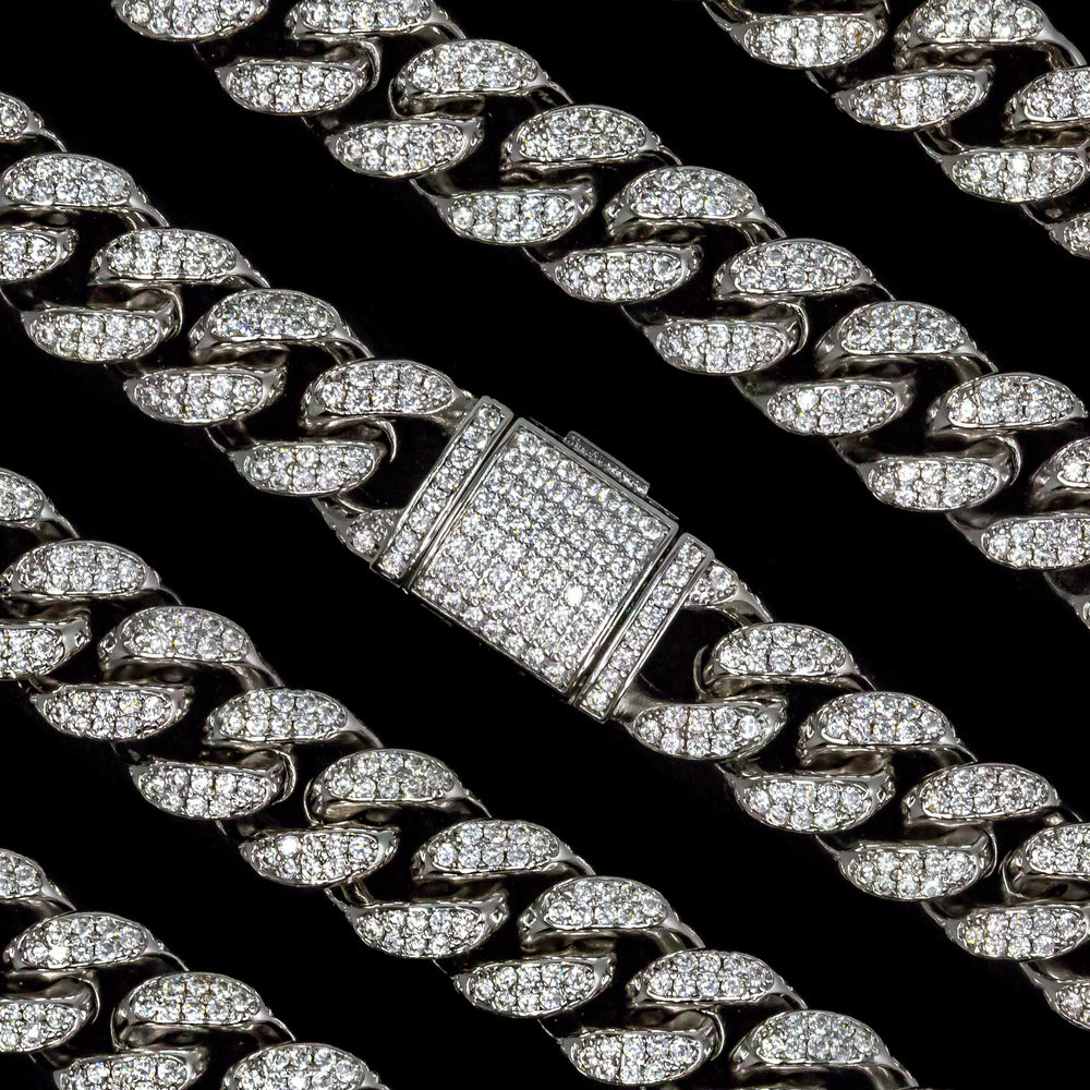 Load image into Gallery viewer, 12mm White Gold Cuban Link Choker