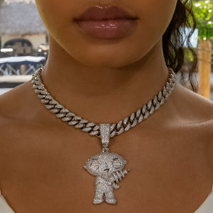 Load image into Gallery viewer, Iced Out Diamond Stewie Griffin - White Gold