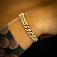 8mm Yellow Gold Cuban Link Bracelet