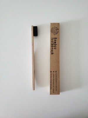 Bamboo Toothbrush - Adult - Charcoal Bristol - Earth Warrior Lifestyle