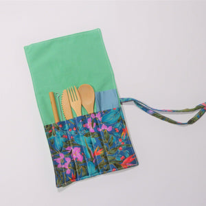 Cutlery Kit - Roll Up - Tropicana