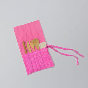 Cutlery Kits - Roll Up - Blushing