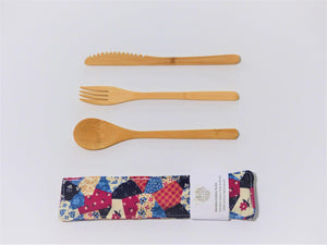Cutlery Kit - Small -Patchwork Patty
