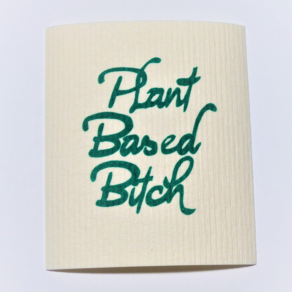 Swedish Dishcloth - Plant Based Bitch - Earth Warrior Lifestyle