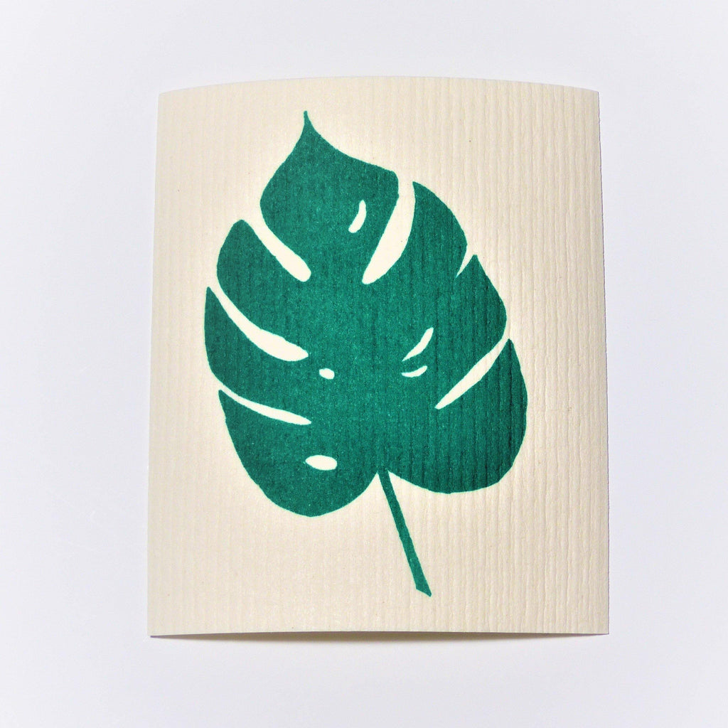 Swedish Dishcloth - Monstera Leaf - Earth Warrior Lifestyle