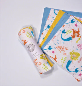 Unpaper towel - 5 pack - Mermaid dreams - Earth Warrior Lifestyle