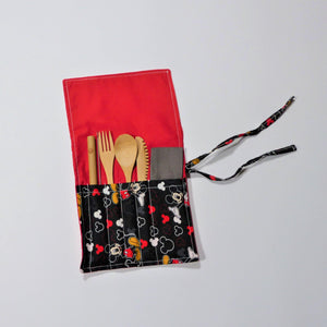 Cutlery Kit - Roll Up - Mickey