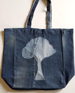Denim Tree Tote Bag