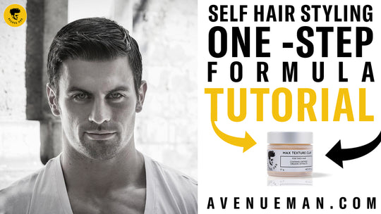 Short Mens Hair Self Styling With Avenue Man Hair Products By Michael Scanlon | One-Step Formula