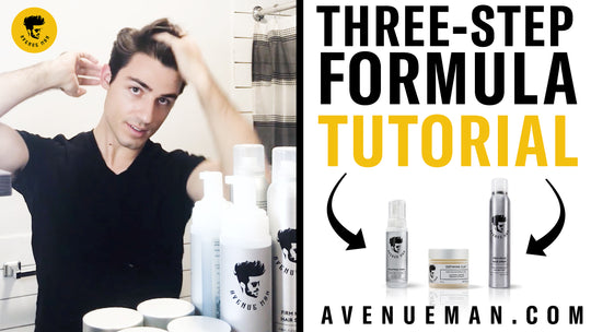 Pompadour Self Styling With Avenue Man Products By Michael Notardonato | Three-Step Formula