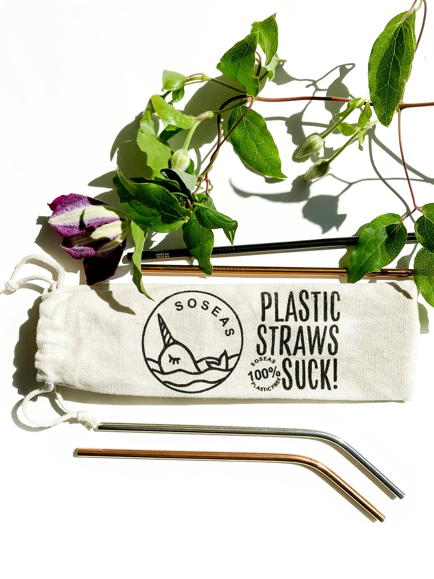 Reusable Metal Straws [8 Pack] With Linen Carry Case & Cotton Cleaners