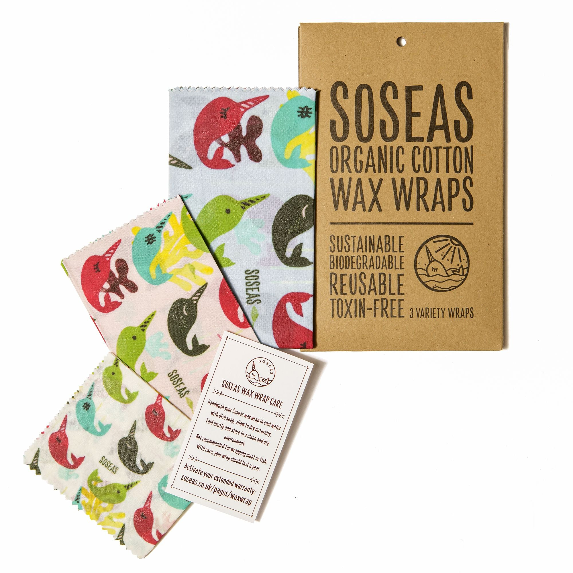 Beeswax Wraps 3 Pack S M L