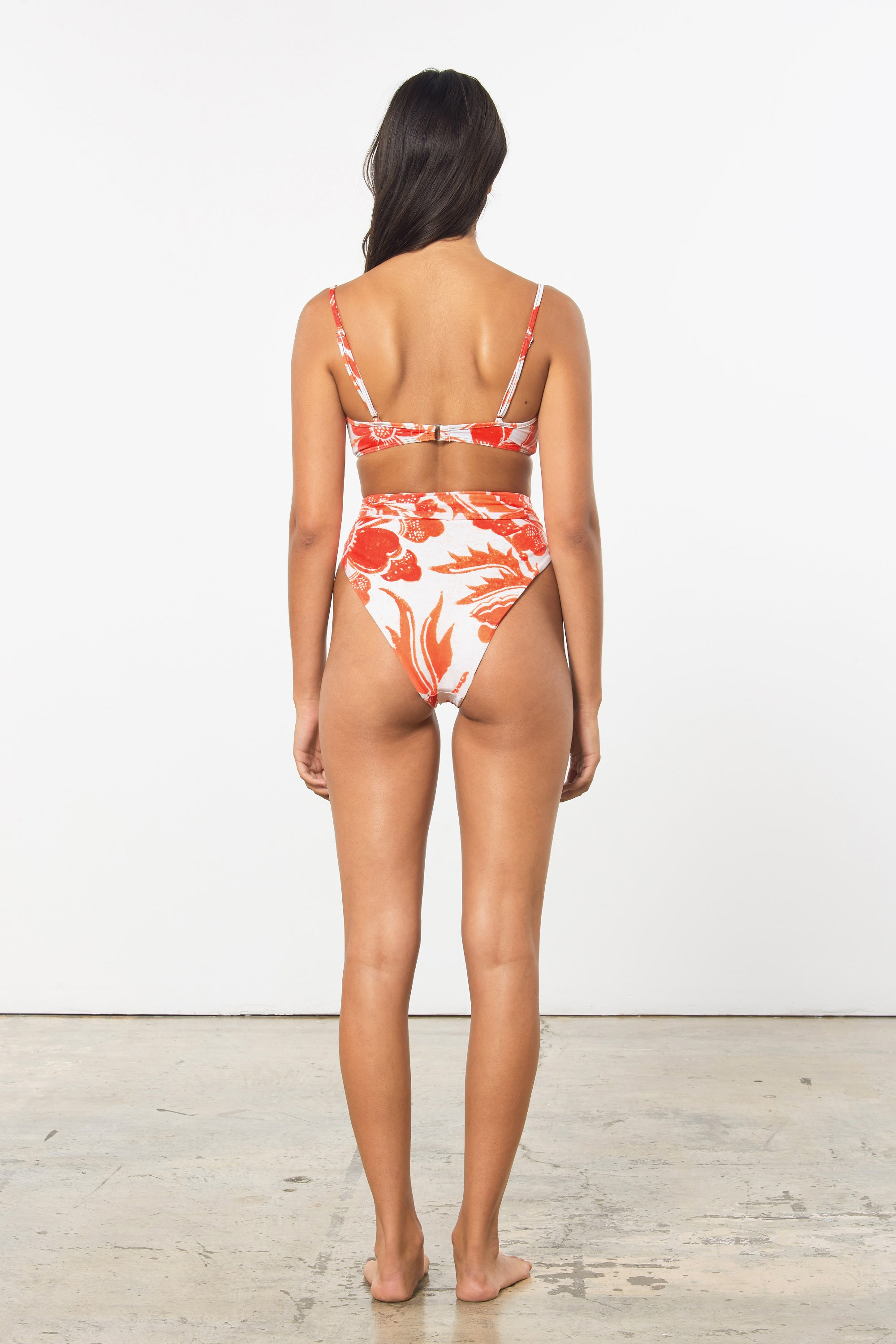 Mara Hoffman Print Goldie Bikini Bottom in Repreve (back)